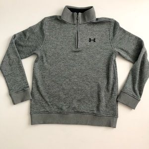 Under Armour 1/4 Zip Sweater - Gray - Size L Youth
